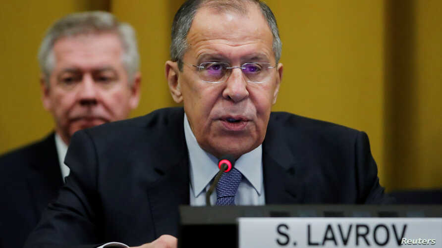 Sergey Lavrov, Minister for Foreign Affairs of Russia attends the Conference on Disarmament at the United Nations in Geneva, Switzerland, Feb. 28, 2018.