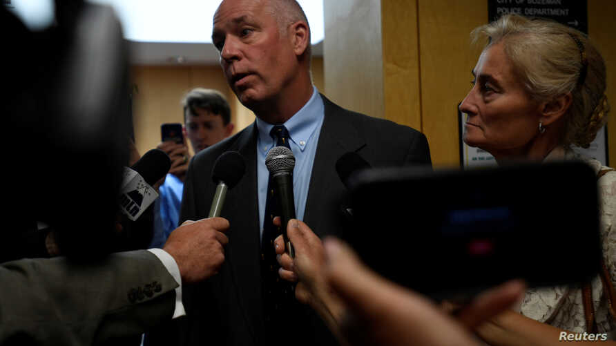 Montana Republican congressman-elect Greg Gianforte appears in court to face a charge of misdemeanor assault after he was accused of attacking a reporter on the eve of his election, in Bozeman, Montana, June 12, 2017.