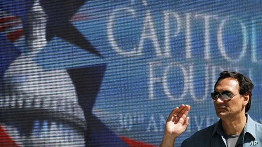 "Actor Jimmy Smits rehearses for the independence day concert, ""A Capitol Fourth,"" by the U.S. Capitol in Washington (file photo)"
