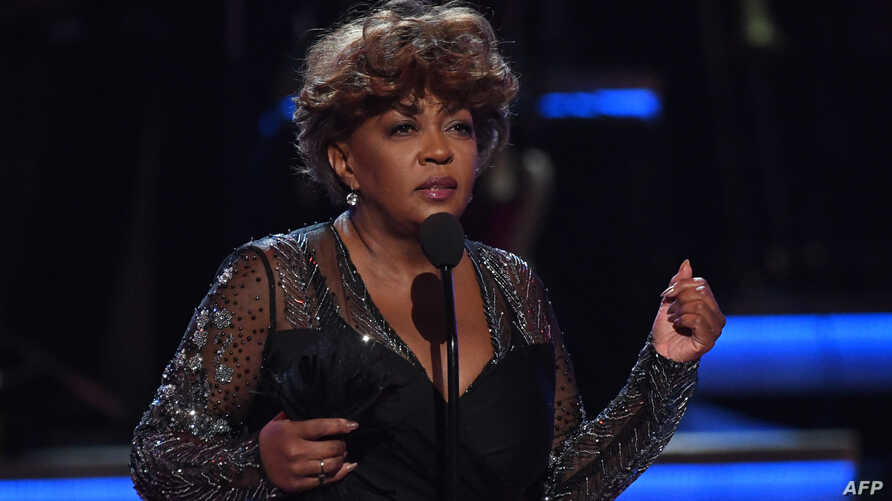 U.S. singer-songwriter Anita Baker accepts the Lifetime Achievement Award  onstage during the BET Awards at Microsoft Theatre in Los Angeles, California, June 24, 2018.