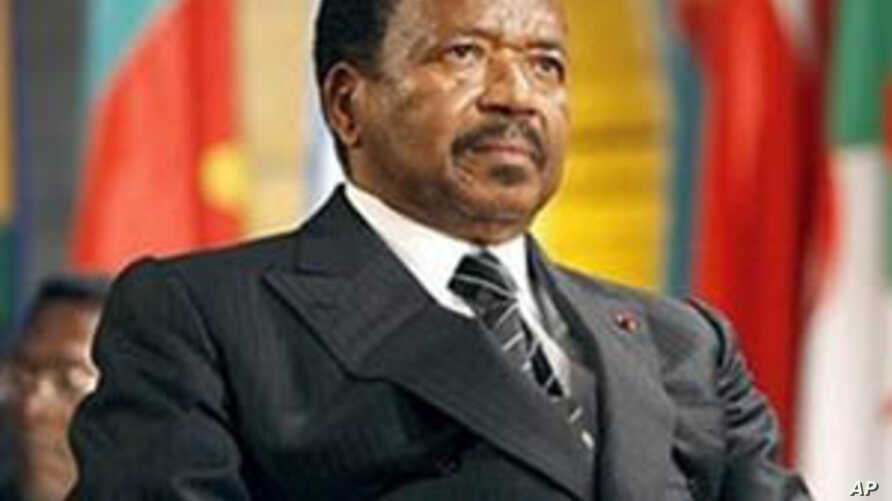 President Paul Biya, who has been in power for nearly 30 years, is expected to run for re-election in October.