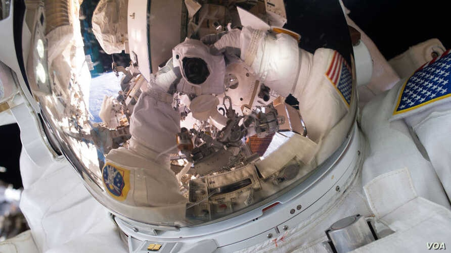 Expedition 45 Commander Scott Kelly took this photograph during a spacewalk on Oct. 28, 2015.