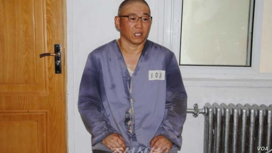 Kenneth Bae being interviewed by Japanese pro-North Korea newspaper Choson Sinbo at North Korean labor camp, June 26, 2013.
