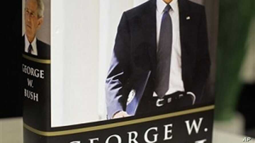 """President George W. Bush's new book """"Decision Points"""" is photographed in Washington, Monday, Nov. 8, 2010"""