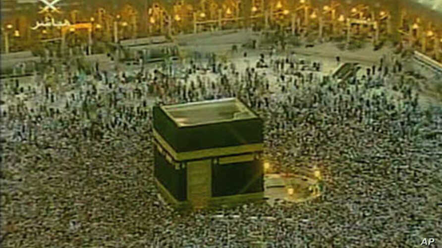 The pilgrims circle the Kaaba, considered by Muslims the house of God, inside the Grand mosque in Mecca, Saudi Arabia (file photo)