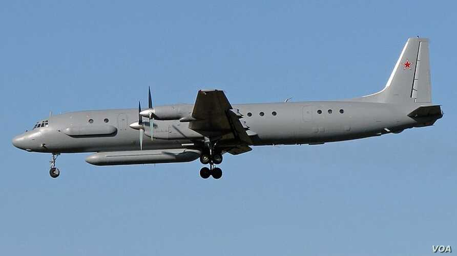 A Russian Ilyushin-20 aircraft similar to the one depicted in this file photo allegedly crossed into Estonian airspace on Tuesday.