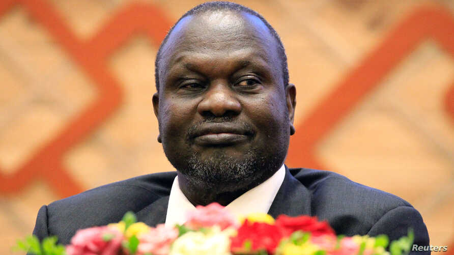 South Sudan rebel leader Riek Machar attends the signing of a peace agreement with the South Sudan government aimed to end a war in which tens of thousands of people have been killed, in Khartoum, Sudan, June 27, 2018