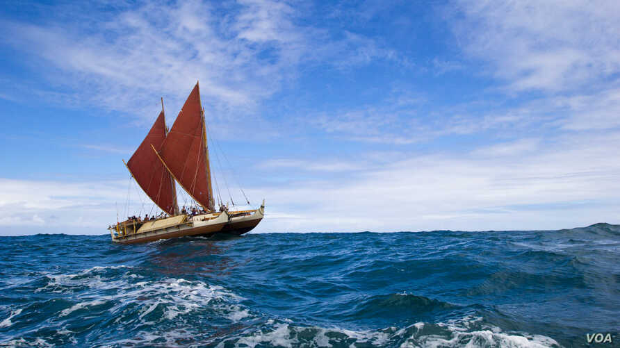The Höküle'a is about to set sail on an around-the-world j