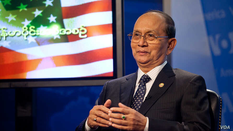 Burmese president Thien Sein hosted a town hall meeting at VOA in Washington, DC, May 19, 2013. (Alison Klein for VOA)