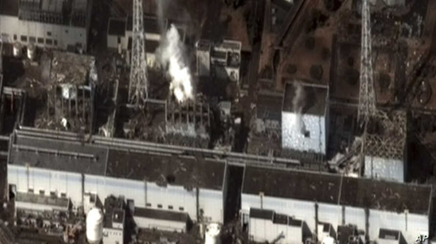 Damage after an earthquake and tsunami at Fukushima Daiichi nuclear plant, 240 km (150 miles) north of Tokyo, is seen in this satellite image taken 9:35 am local time (0035 GMT) on March 16, 2011.