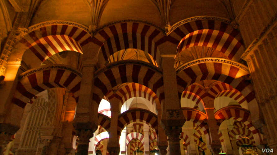 The Great Mosque of Cordoba featured in the film Islamic Art Mirror of the Invisible World (courtesy Unity Productions Foundation)