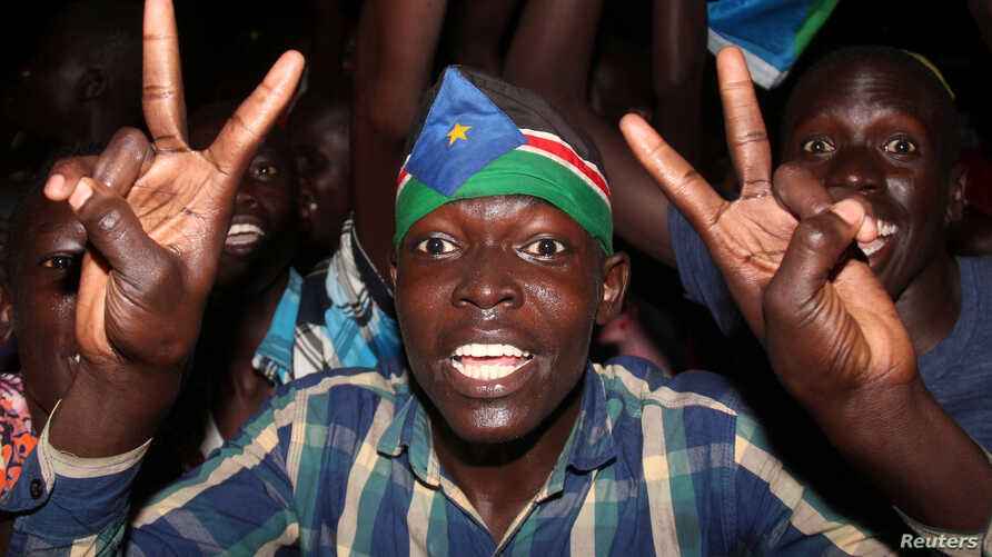 South Sudanese civilians in Juba, the capital, celebrate the signing of a cease-fire and power-sharing deal between President Salva Kiir and rebel leader Riek Machar, in Khartoum, Sudan, Aug. 5, 2018.