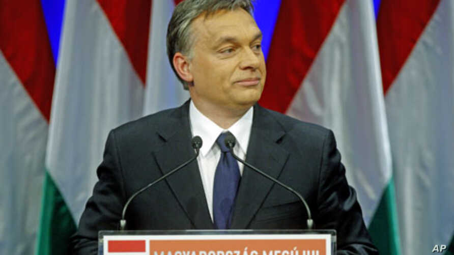 Hungarian Prime Minister Viktor Orban presents his annual state-of-the-nation speech in Budapest, February 7, 2012.