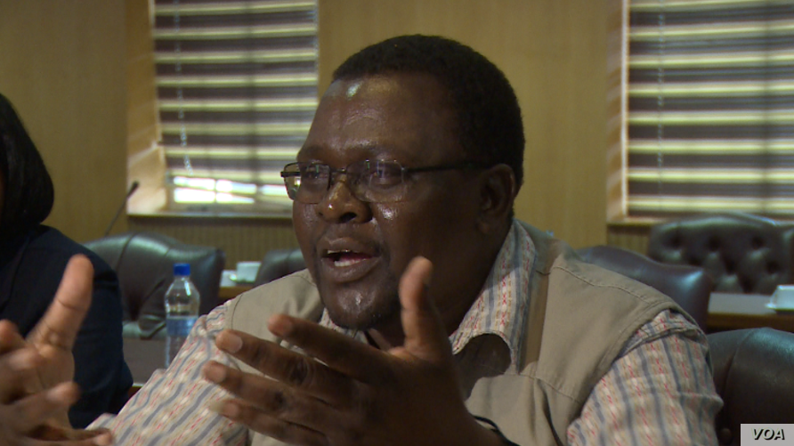 """Takafira Zhou, president of the Progressive Teachers Union of Zimbabwe, says President Emmerson Mnangagwa was told in Harare on Dec. 21, 2018, that if teachers don't report for work in January, """"it's not that they do not want to work. It is because t"""