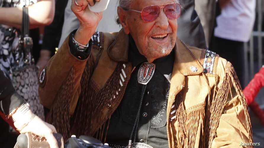 Actor Herb Jeffries, who appeared as a singing cowboy in films arrives at the opening night gala of the 2011 TCM Classic Film Festival featuring a screening of a restoration of 'An American In Paris' in Hollywood, California, April 28, 2011.