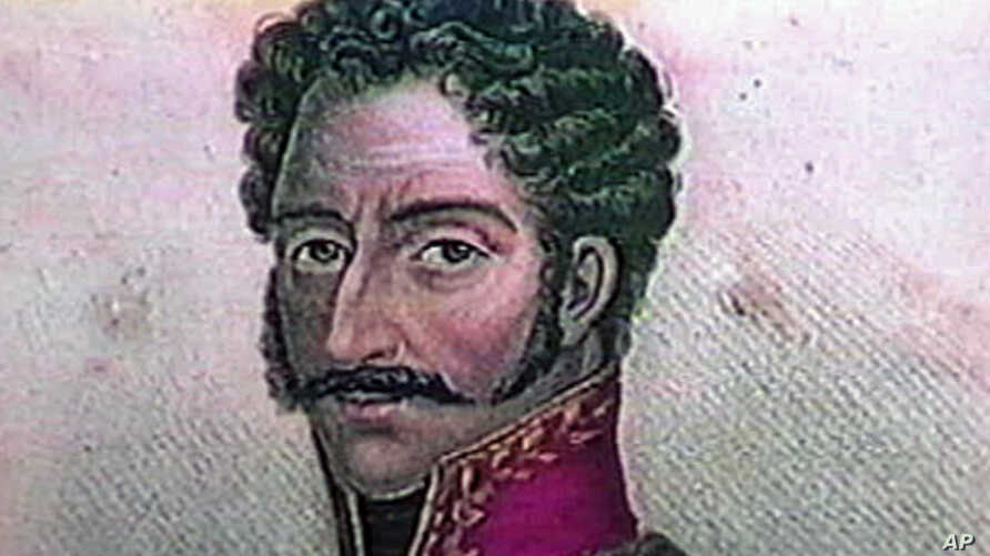 Simon Bolivar, born in 1783 in Caracas, Venezuela, to sixth-generation Spanish Americans. Nicknamed 'The Liberator' , he lead troops to victory in 100 battles.