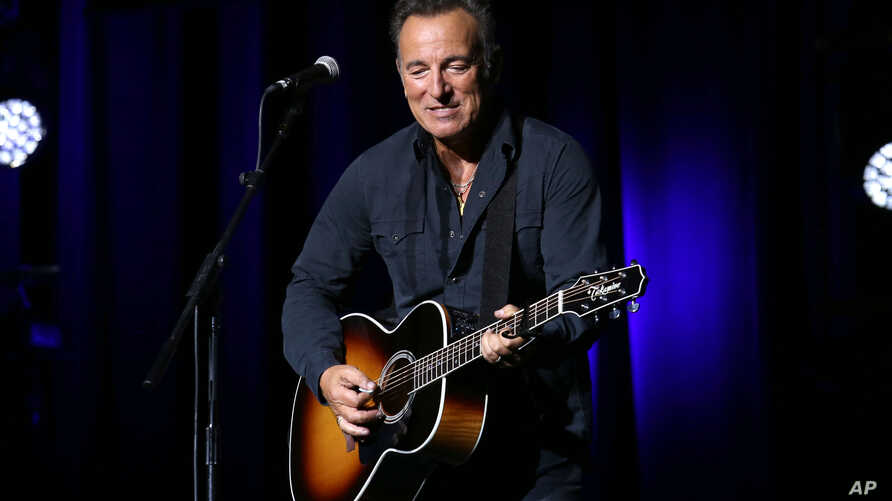 Bruce Springsteen performs at the 9th Annual Stand Up For Heroes event, presented by the New York Comedy Festival and The Bob Woodruff Foundation, at the Theater at Madison Square Garden on Nov. 10, 2015, in New York.