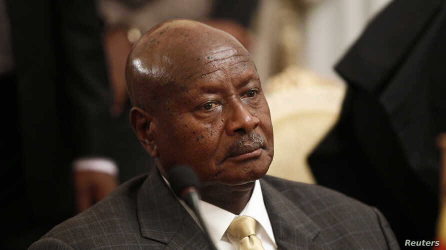 Uganda's President Yoweri Museveni attends an urgent session of the Summit of the Inter-Governmental Authority on Development (IGAD) on South Sudan in Ethiopia's capital Addis Ababa, June 10, 2014.