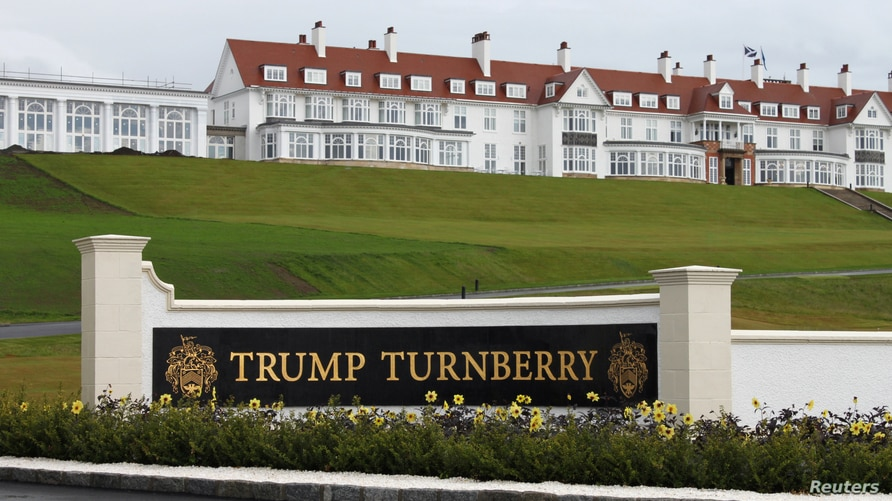 An exterior view of the hotel at the Trump Turnberry golf resort in Turnberry, Scotland, Britain, June 13, 2016.