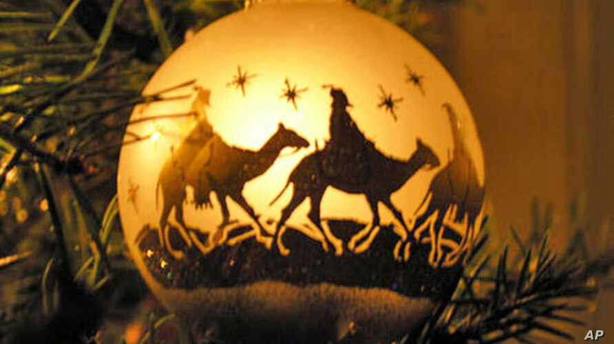 This ornament depicts three kings, or wise men — said to h