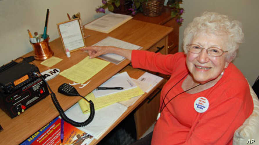 Helen Schlarman, 89, has multiple sclerosis and says ham radio lets her connect with friends she's not able to see in person.