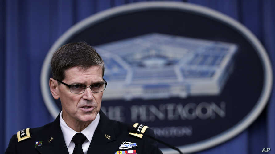 U.S. Central Command Command Commander, U.S. Army Gen. Joseph Votel, speaks to reporters at the Pentagon, Aug. 30, 2016, during a briefing to provide an update on U.S. CENTCOM operations.
