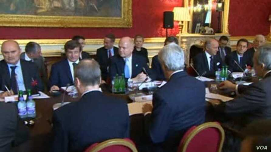 Officials from 11 nations known as the Friends of Syria met Tuesday with members of the Syrian opposition in London, Oct. 22, 2013.
