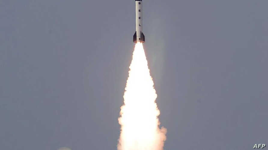 In this handout photograph released by Pakistan's Inter Services Public Relations (ISPR) on Jan. 24, 2017, an Ababeel surface-to-surface ballistic missile is shown launching from an undisclosed location in Pakistan.