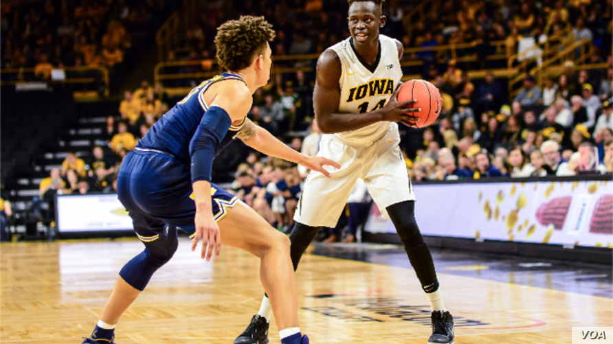 Peter Jok, a University of Iowa standout for four years, was projected to be an early pick in the National Basketball Association draft on June 22, 2017. (University of Iowa photo)