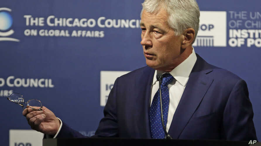 Secretary of Defense Chuck Hagel speaks about strategic priorities to the Chicago Council on Global Affairs on May 6, 2014.