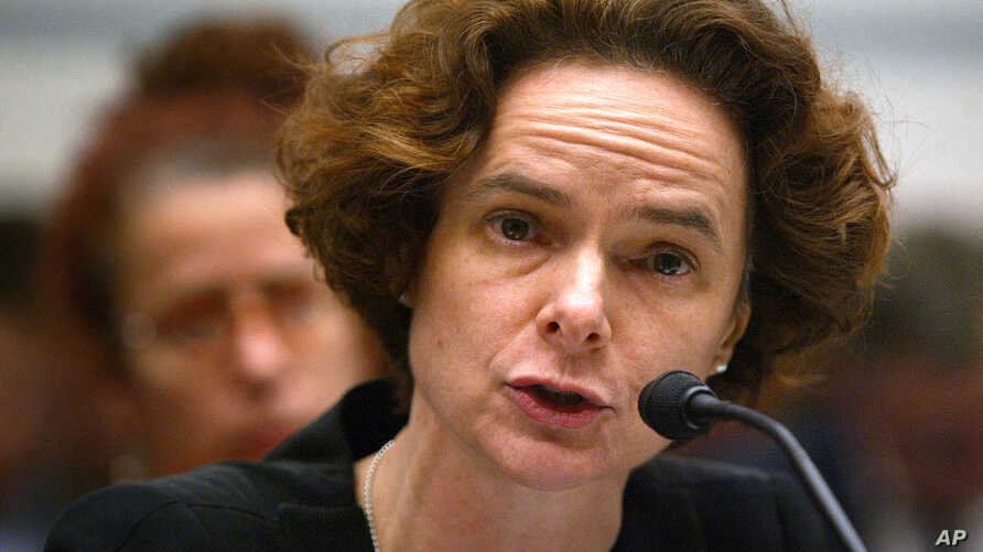 FILE - Dr. Nora Volkow, director of the National Institute on Drug Abuse, testifies Thursday, March 17, 2005, during a hearing on Capitol Hill in Washington on the use of steroids in professional baseball.