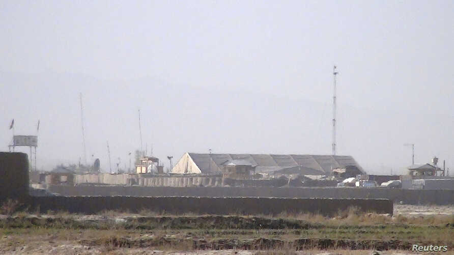 A general view of a joint Afghan-U.S. base at the Zurmat district of Paktia province, October 17, 2012.