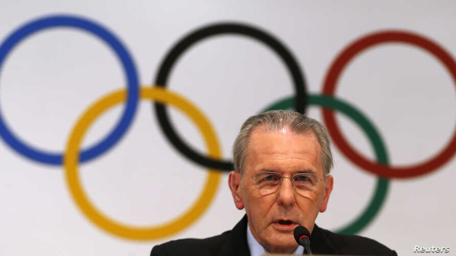 International Olympic Committee (IOC) president Jacques Rogge of Belgium speaks during a news conference in Buenos Aires, Sept. 4, 2013.