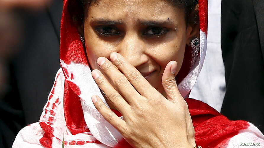 Geeta comes out from an airport after her arrival in New Delhi, India, Oct. 26, 2015. The deaf-mute Indian girl stranded in Pakistan for 13 years after wandering over one of the world's most militarised borders arrived home to be reunited with the fa