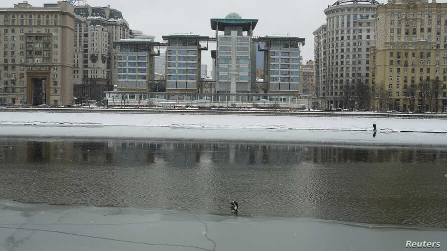 The buildings of the British Embassy are seen in Moscow, Russia, March 15, 2018.