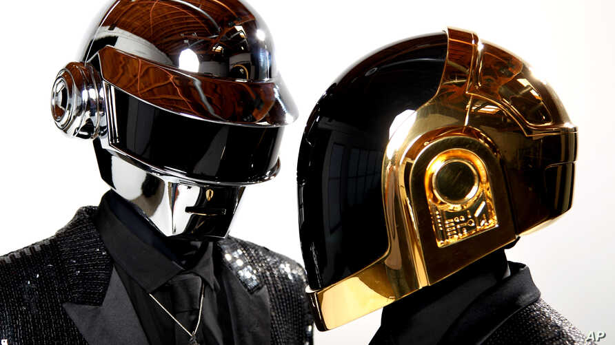 Thomas Bangalter, left, and Guy-Manuel de Homem-Christo, from the group Daft Punk pose for a portrait in Los Angeles, April 17, 2013.