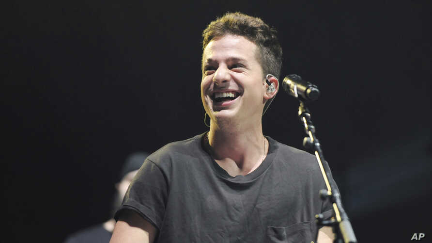 Charlie Puth opens for Shawn Mendes during the Illuminate World Tour at American Airlines Arena in Miami, Florida.