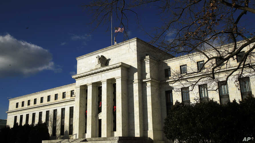 FILE - The Federal Reserve building