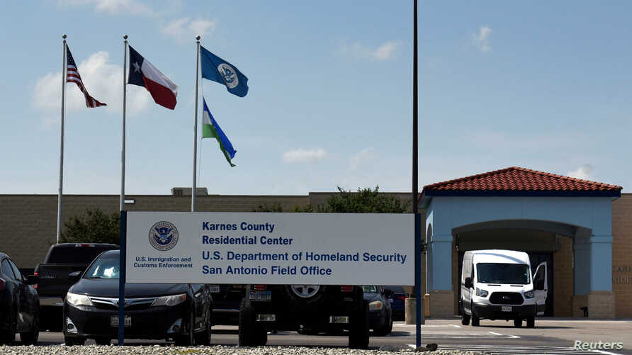 FILE - The Karnes County Residential Center is seen in Karnes City, Texas, July 25, 2018.