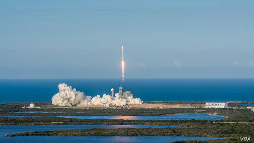 SpaceX's Falcon 9 (SES-10) blasted off in world's first reflight of an orbital class rocket, from Florida's Kennedy Space Center at Cape Canaveral, Florida,  March 30, 2017. (SpaceX photo)