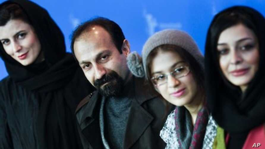 Iranian actress Leila Hatami, Director Asghar Farhadi, actresses Sarina Farhadi and Sareh Bayat , from left, attend a photocall about the movie  'Nader and Simin, A Seperation' at the Berlin Film Festival on Tuesday, Feb. 15, 2011.