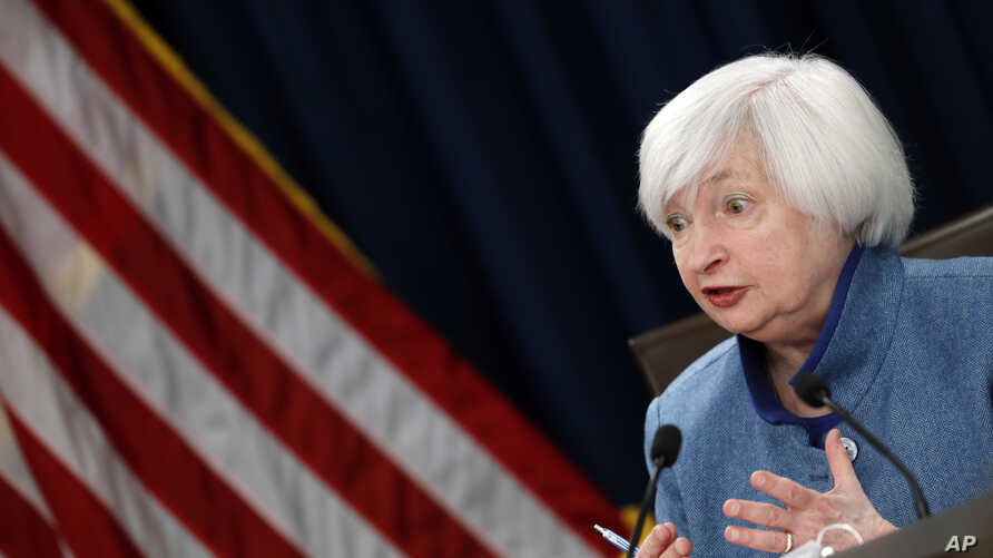 Federal Reserve Board Chair Janet Yellen answers a reporter's question during a news conference about the Federal Reserve's monetary policy, Dec. 14, 2016, in Washington.