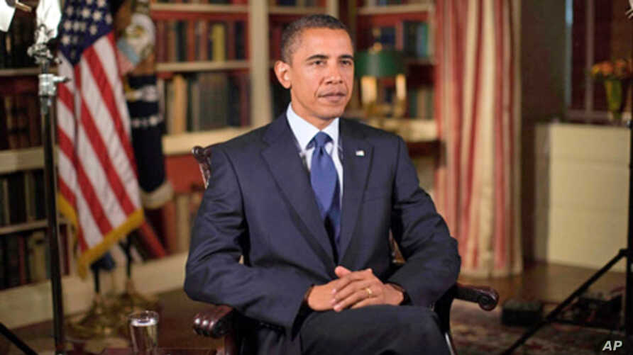 President Obama records his weekly address for August 21, 2010