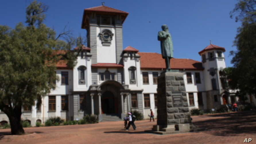 The main square of South Africa's troubled Free State University