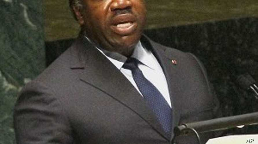 President of Gabon Ali Bongo Ondimba speaks in the U.N. General Assembly during high-level meetings on HIV/AIDS on Wednesday, June 8, 2011