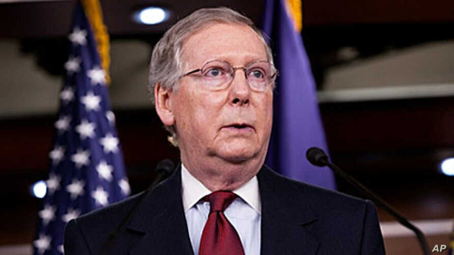 Senate Minority Leader Mitch McConnell (R-KY) speaks at a news conference on 3 Nov 2010