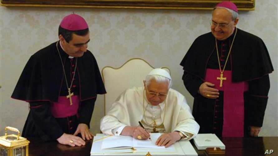 Italian-Argentine Leonardo Sandri (right) seen here with Pope Benedict in 2007, now heads the Vatican department for Eastern Churches, and is considered a leading candidate to replace Benedict.