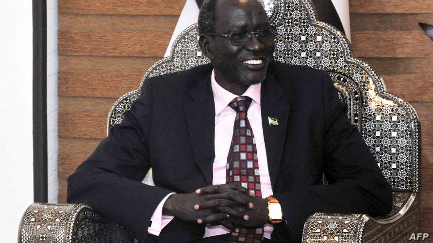 FILE - South Sudan Finance Minister Stephen Dhieu Dau, pictured in May 2013, presented an annual budget last month, but after further review, the parliament's committee on finance proposed adding $141 million to it.