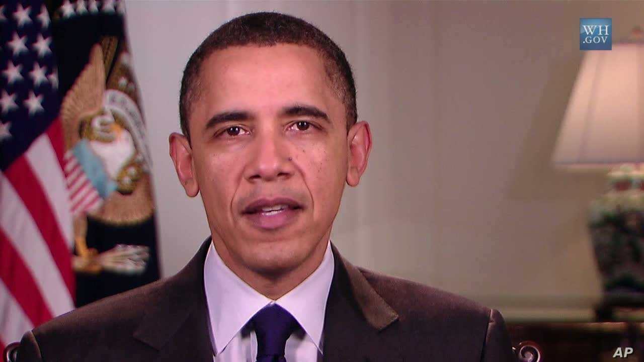 US President Barack Obama delivers his weekly address, February 26, 2011