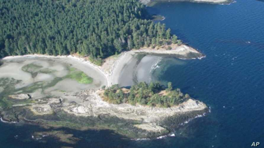 Aerial view of Dionisio Point where archaeologists are examining why nomads in the area settled into village life.